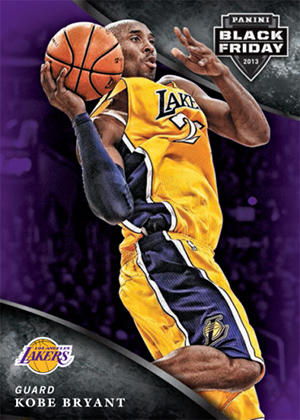 2013 Panini Black Friday Base Set Kobe Bryant