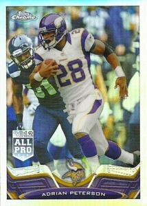 2013 Topps Chrome Football Variation Short Prints Guide 61