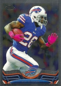 2013 Topps Chrome Football Variations CJ SPiller
