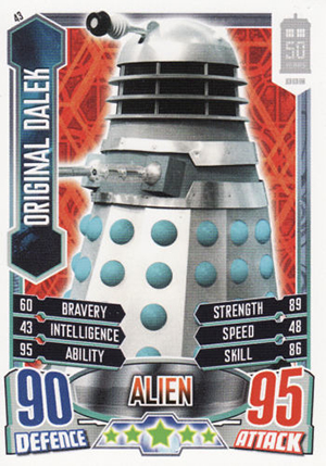 dr who 50th anniversary cards