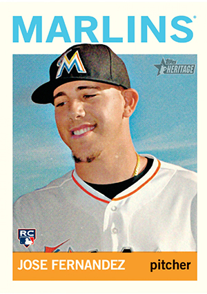 2013 Topps Heritage High Number Baseball Jose Fernandez RC