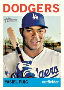 2013 Topps Heritage High Number Baseball Yasiel Puig RC