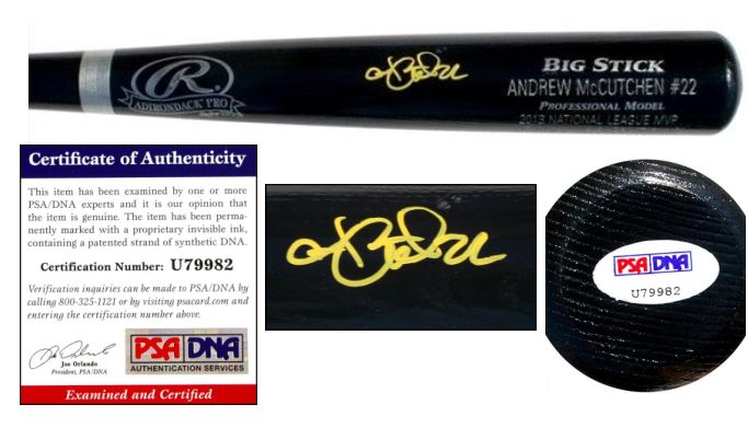 Andrew McCutchen Signed Bat