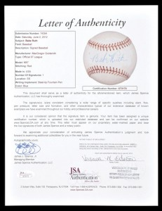 Babe Ruth Autographs and Memorabilia Guide 27