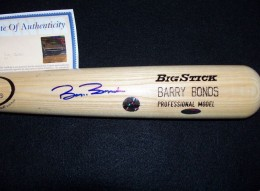 Barry Bonds Signed Bat