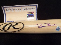 Barry Bonds Signed Bat COA