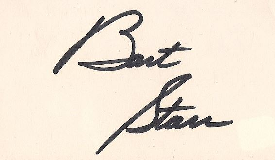 Bart Starr Signature Example