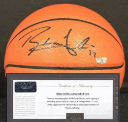 Blake Griffen Signed Baskettball