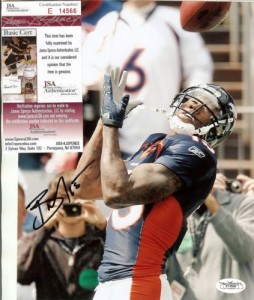 Brandon Marshall Signed Photo