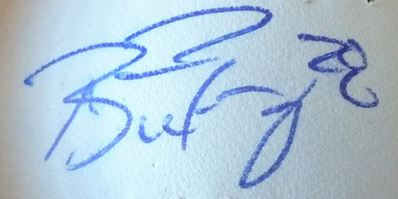 Buster Posey Cut Signature Example
