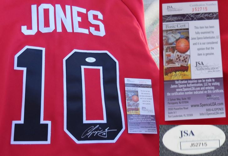 Chipper Jones Signed Jersey