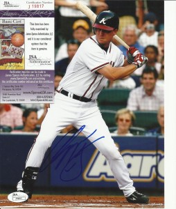Chipper Jones Signed Photo