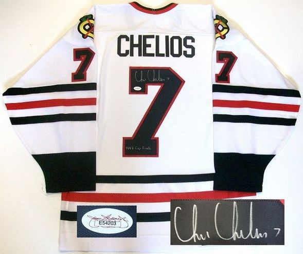 Chris Chelios Signed Jersey