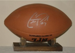 Christian Ponder Signed Football