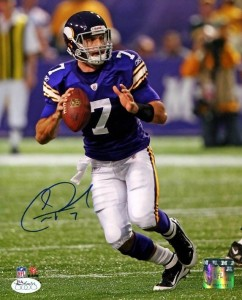 Christian Ponder Signed Photo