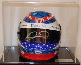 Danica Patrick Signed Photo Helmet