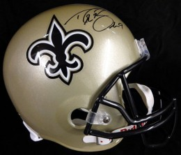 Drew Brees Signed Helmet
