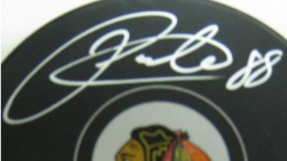 Patrick Kane Signed Puck Close