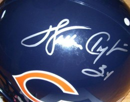 Walter Payton Signed helmet close