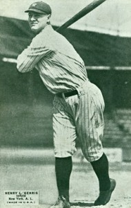 1925 Exhibits Lou Gehrig