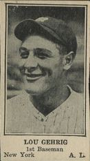 1925 W590 Lou Gehrig Strip