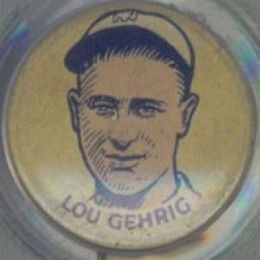 1930 Cracker Jack Pin Lou Gehrig