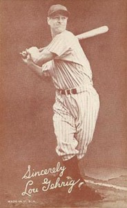 1939 Exhibits Salutation Lou Gehrig #21