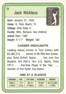 1981 Donruss Golf Cards 5