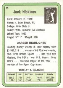 1981 Donruss Golf Cards 5