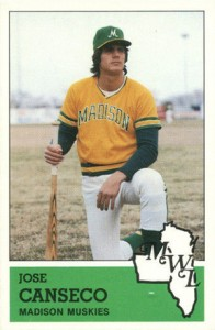 1983 Fritsch Madison Muskies Jose Canseco