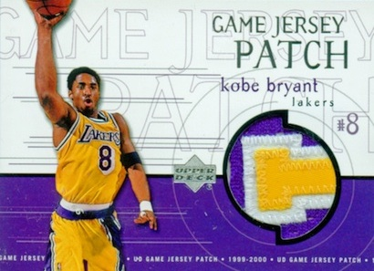 1999-00 Upper Deck Game Jerseys Patch Kobe Bryant 1
