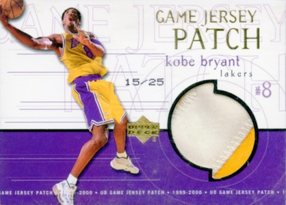 1999-00 Upper Deck Game Jerseys Super Patch Kobe Bryant