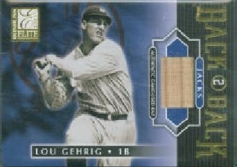 2001 Donruss Elite Lou Gehrig
