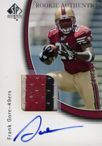 2005 SP Authentic Frank Gore RC