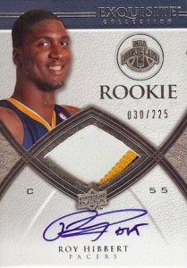 Roy Hibbert Cards and Memorabilia Guide 1