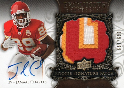 Jamaal Charles Cards and Memorabilia Guide 1