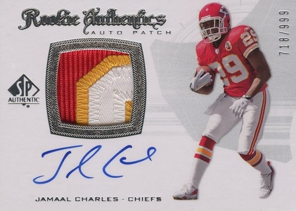 Jamaal Charles Cards and Memorabilia Guide 3