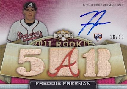Freddie Freeman Cards, Rookie Cards, and Memorabilia Guide 1