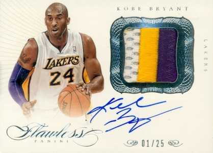 2012-13 Flawless Kobe Bryant Autographed Patch