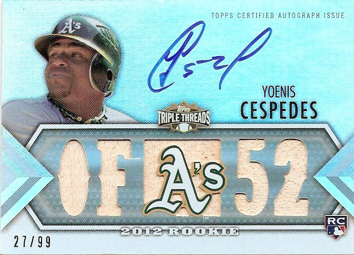 Yoenis Cespedes Cards and Autographed Memorabilia Guide 1