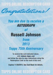 2013 Topps 75th Anniversary Autographs Bring the Nostalgia 8