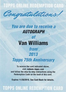 2013 Topps 75th Anniversary Autographs Bring the Nostalgia 14