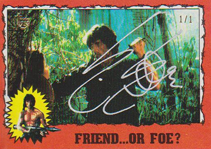 2013 Topps 75th Anniversary Buyback Autographs Sylvester Stallone Rambo II