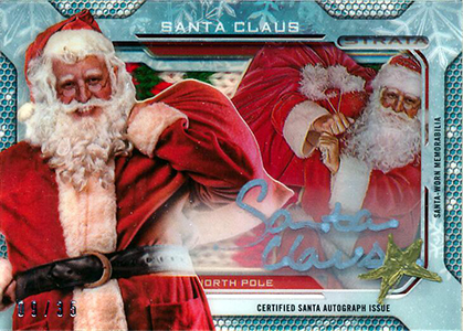 Santa Claus Surprises in 2013 Topps Strata Football 1
