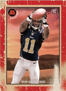 2013 Topps Turkey Red Football Variations Tavon Austin