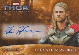2013 Upper Deck Thor The Dark World Autographs Chris Hemsworth CH