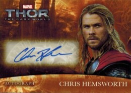 2013 Upper Deck Thor The Dark World Autographs Chris Hemsworth TH