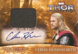 2013 Upper Deck Thor: The Dark World Actor Autographs Guide 13