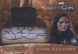 2013 Upper Deck Thor: The Dark World Actor Autographs Guide 16