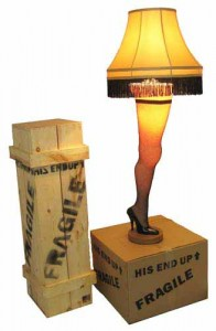 A Christmas Story Full-Size Leg Lamp